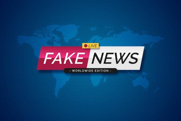 Banner ufficiale di diffusione di notizie false