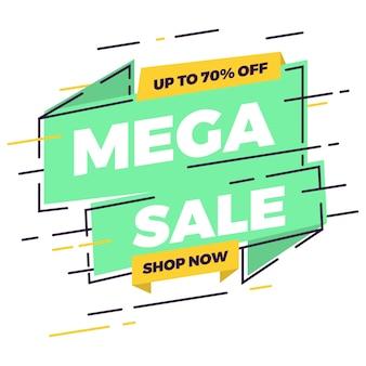 Banner vendita mega vendita piatta