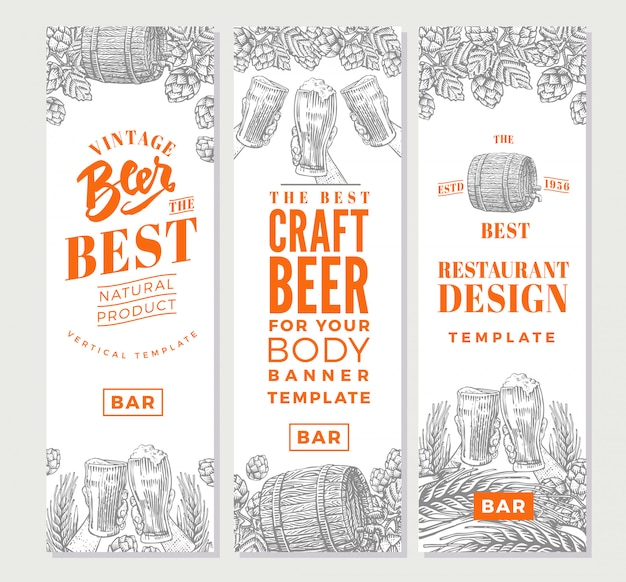 Banner verticale di birra