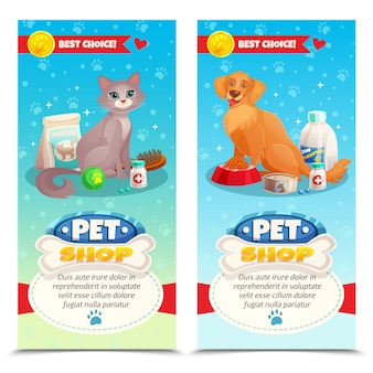 Banner verticale di pet shop