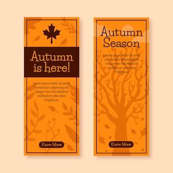 Banner verticale di vendita autunno