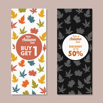 Banner verticale di vendita d'autunno