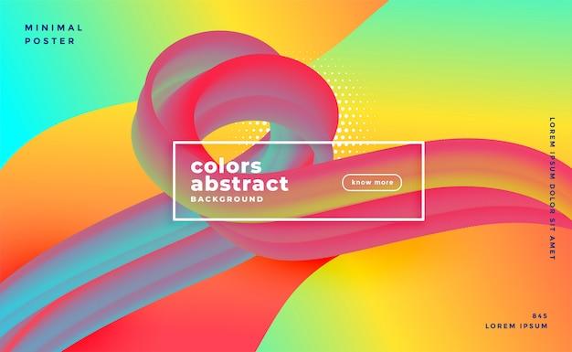 Banner vibrante ad anello fluido 3d