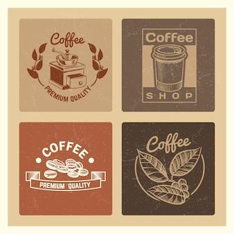 Banner vintage di caffetteria