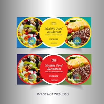 Banner web di due ristoranti alimentari