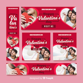 Banner web di vendita di san valentino