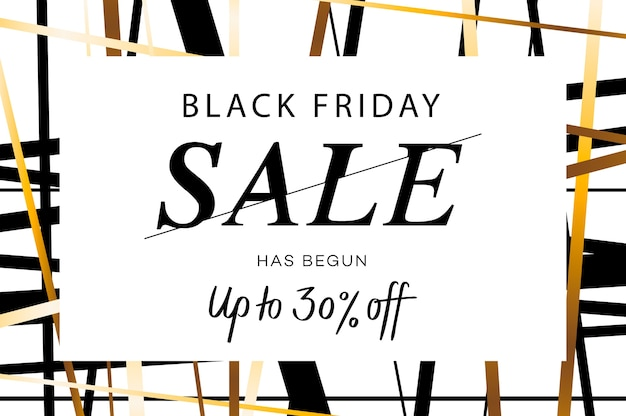 Banner web di vendita eccellente del black friday.