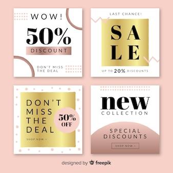 Banner web di vendita per social media