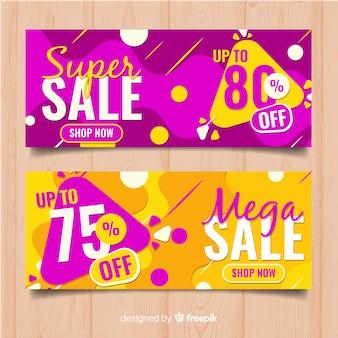 Banner web di vendita