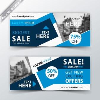 Banner web di vendite astratte