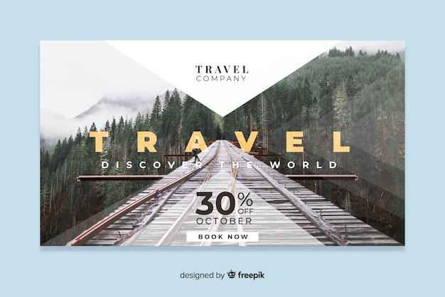 Banner web di viaggio con foto