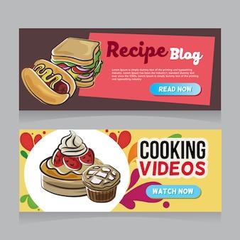 Banner web disegnata a mano di panetteria