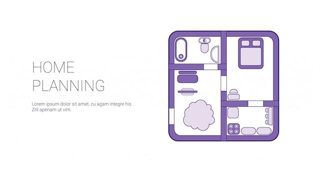 Banner web modello di pianificazione domestica