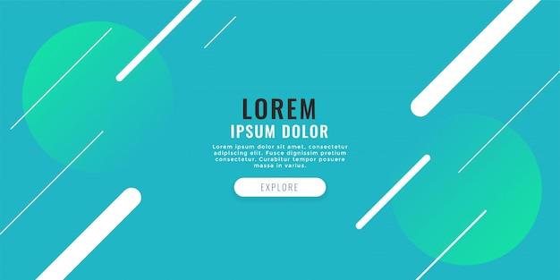Banner web moderno con sfondo di linee diagonali
