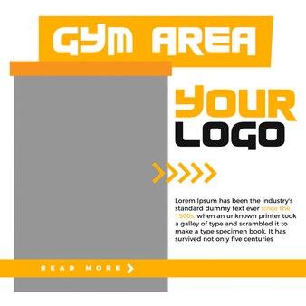 Banner web moderno quadrato di promozione per i social media