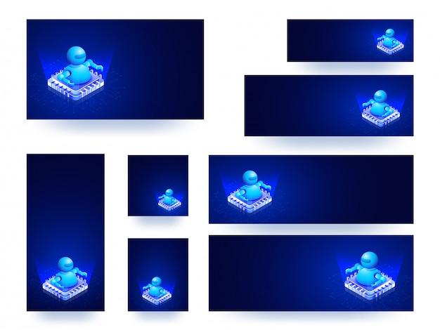 Banner web o set di modelli
