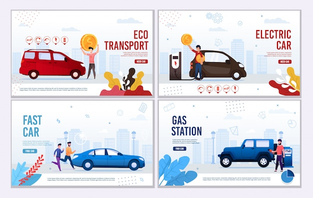 Banner webpage automotive set offerta eco transport