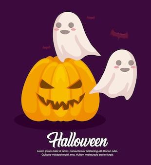 Bannerbanner di celebrazione di halloween