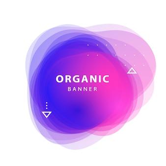 Bannner di sfondo di forme sovrapposte astratte lilla, rosa, blu