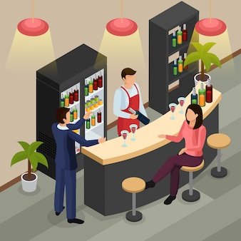 Bar ristorante isometrico