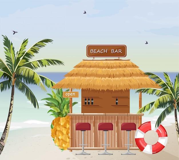 Bar sulla spiaggia estiva