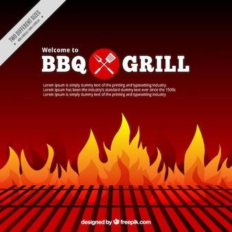 Barbecue e griglia di sfondo