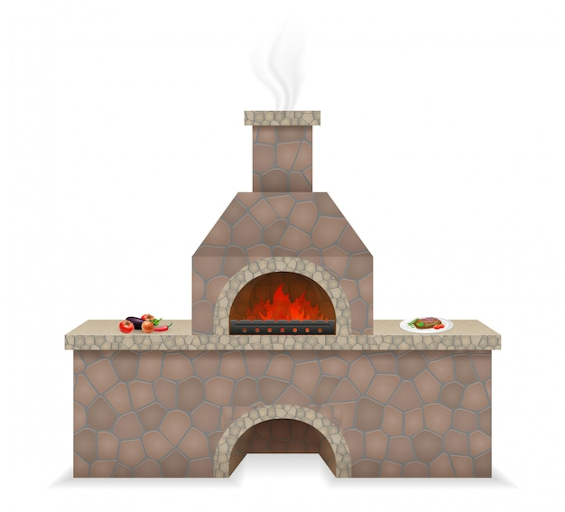 Barbecue realizzato in pietra