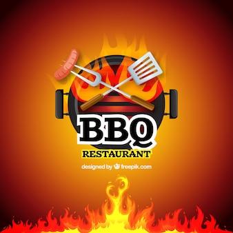 Barbecue specialità segno vettoriale sfondo
