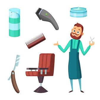 Barbiere al lavoro