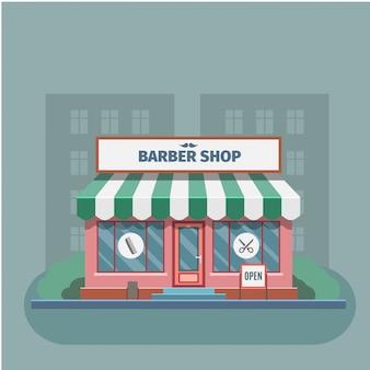 Barbiere nel negozio di barbiere