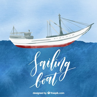Barca a vela acquerello