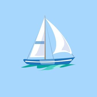 Barca a vela sull'acqua.