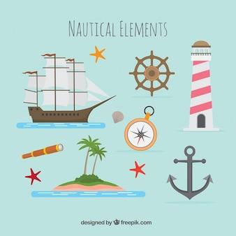 Barca nautico e bussola