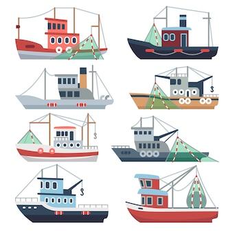 Barche da pesca sull'oceano