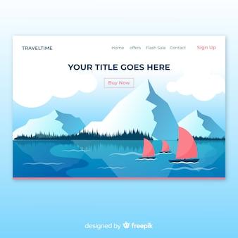 Barche in una pagina di destinazione del lago