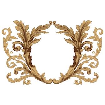 Barocco classico di elemento vintage. calligrafia a filigrana elemento decorativo di design.