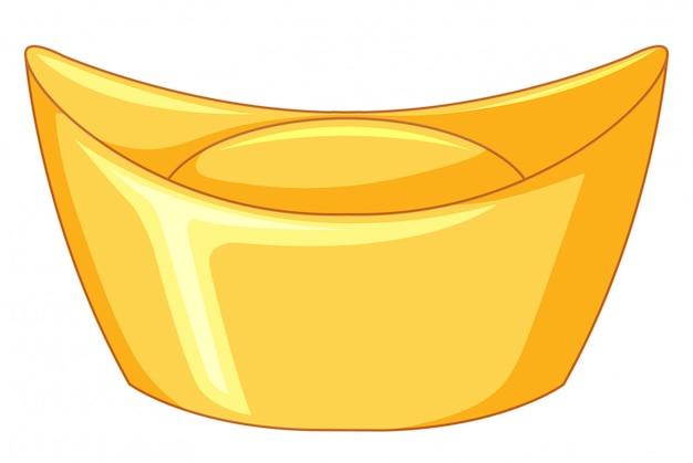 Barra d'oro su bianco