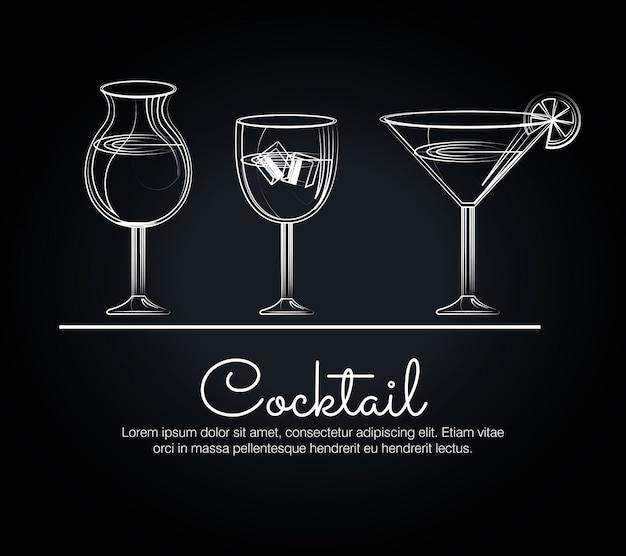 Barra dei menu dei cocktails
