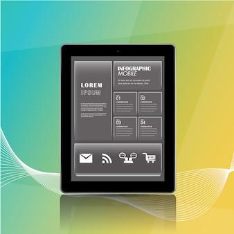 Barra delle opzioni dello smartphone per informazioni.