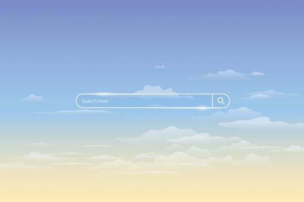 Barra di ricerca in cielo, elemento di interfaccia utente campo di ricerca semplice