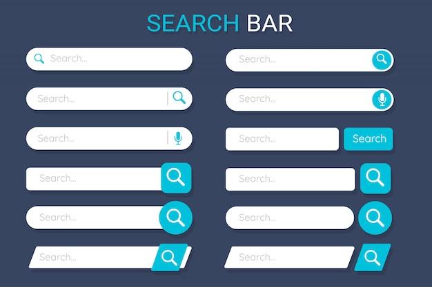 Barra di ricerca per decorazione di siti web e design di applicazioni.