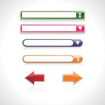 Barre di ricerca vettoriali e frecce