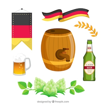 Barrel con altri elementi di oktoberfest