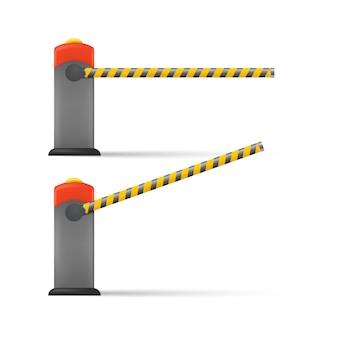 Barriera auto a strisce
