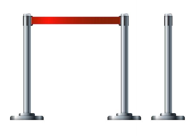 Barriera di recinzione delle biglietterie aeroportuali.