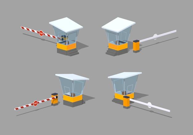 Barriera poli bassa e casello autostradale