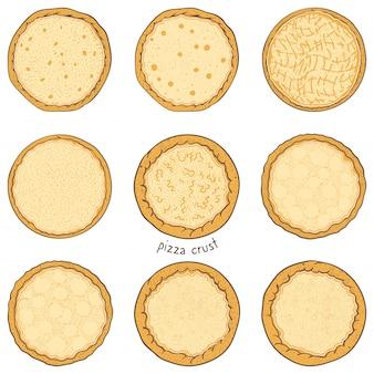 Base per pizza, illustrazione di schizzo