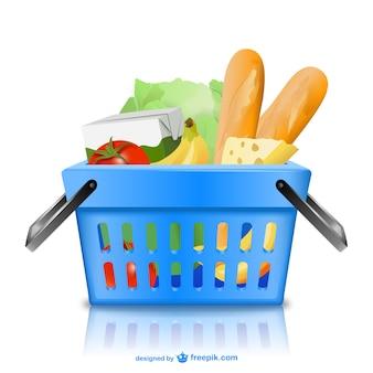 Basket con generi alimentari