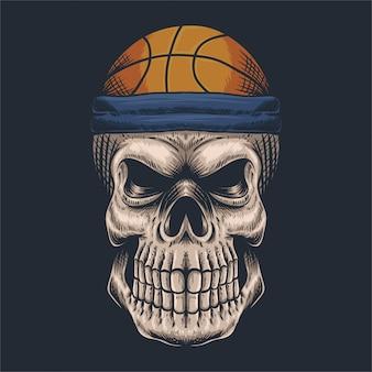 Basket teschio
