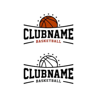 Basketball club team sport, e sports emblem badge logo design